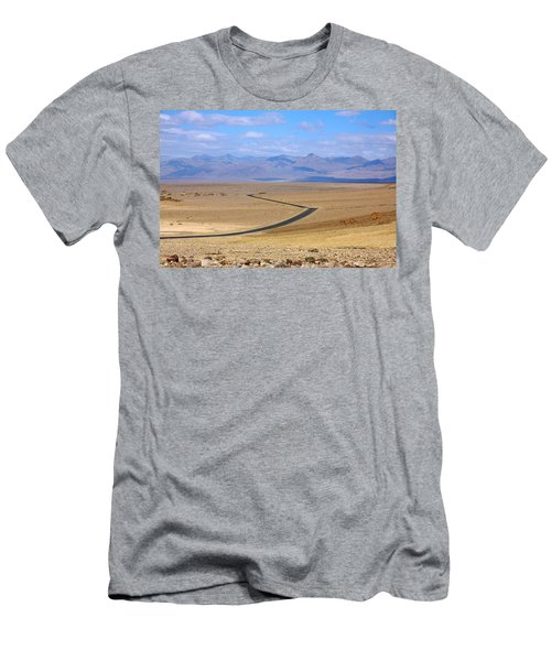 Men's T-Shirt (Slim Fit) featuring the photograph The Road by Stuart Litoff