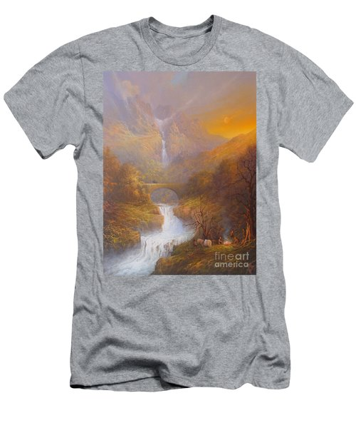 The Road To Rivendell The Lord Of The Rings Tolkien Inspired Art  Men's T-Shirt (Slim Fit) by Joe  Gilronan