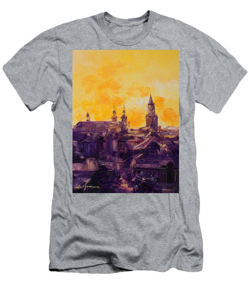 The Roofs Of Lublin Men's T-Shirt (Athletic Fit)