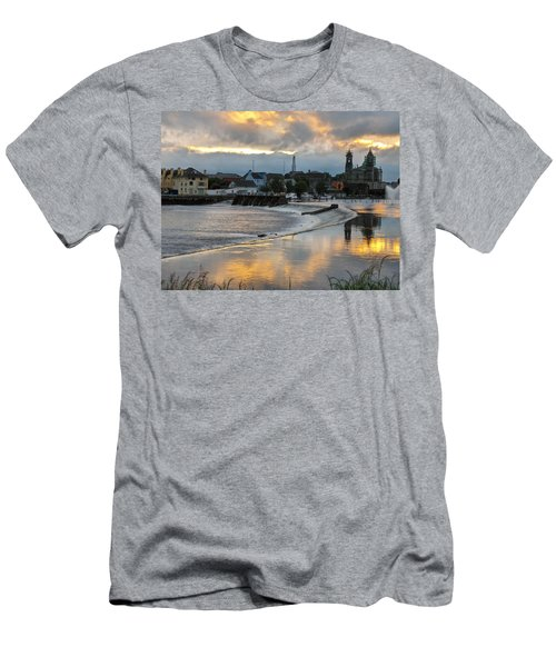 Men's T-Shirt (Slim Fit) featuring the photograph The Shannon River by Brenda Brown
