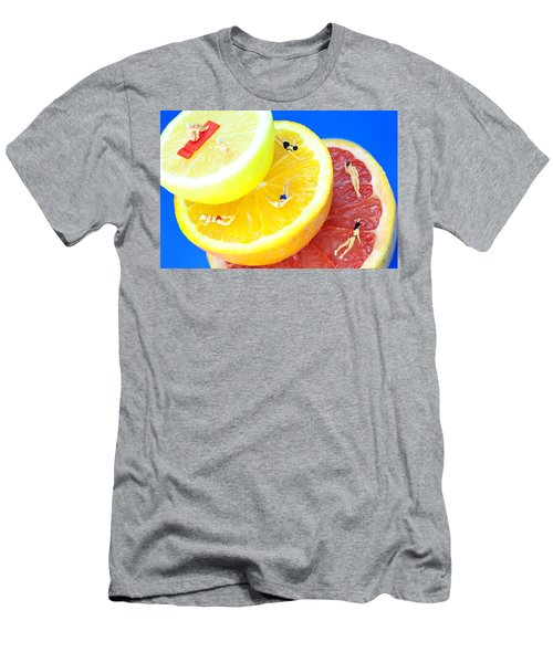 The Swimming Pool Little People On Food Men's T-Shirt (Athletic Fit)