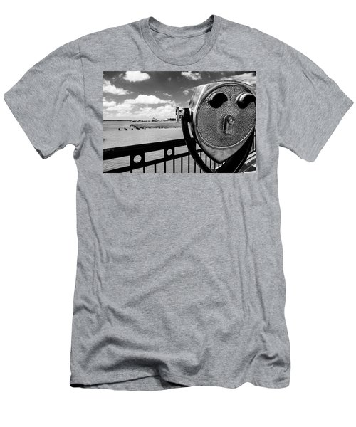 Men's T-Shirt (Slim Fit) featuring the photograph The Viewer by Sennie Pierson