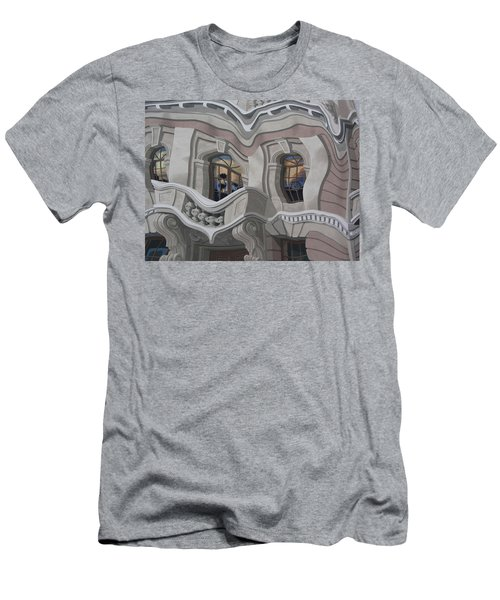 Men's T-Shirt (Slim Fit) featuring the photograph The Walls Are Coming Down by Natalie Ortiz