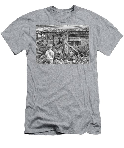 Men's T-Shirt (Athletic Fit) featuring the photograph The Watering Hole by Howard Salmon