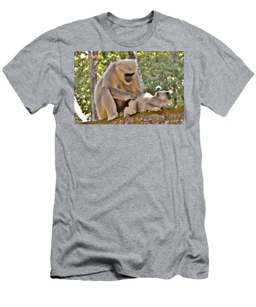 There Is Nothing Like A  Backscratch - Monkeys Rishikesh India Men's T-Shirt (Athletic Fit)