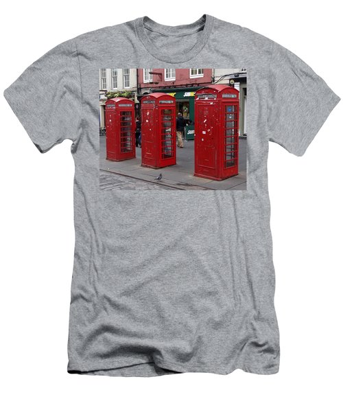 Those Red Telephone Booths Men's T-Shirt (Athletic Fit)