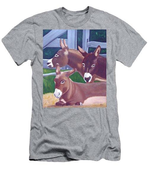 Three Donkeys Men's T-Shirt (Athletic Fit)