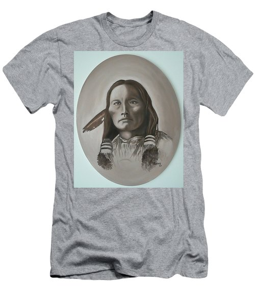 Men's T-Shirt (Slim Fit) featuring the painting Three Fingers by Michael  TMAD Finney