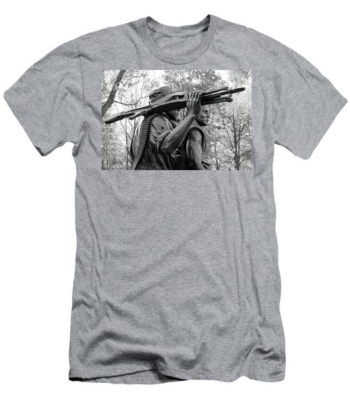 Three Soldiers In Vietnam Men's T-Shirt (Slim Fit)