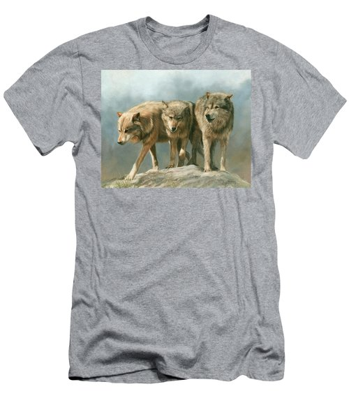 Three Wolves Men's T-Shirt (Athletic Fit)