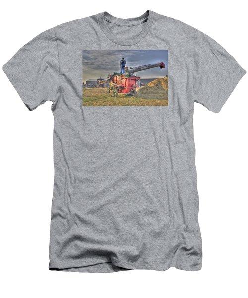 Threshing At Rollag Men's T-Shirt (Slim Fit) by Shelly Gunderson