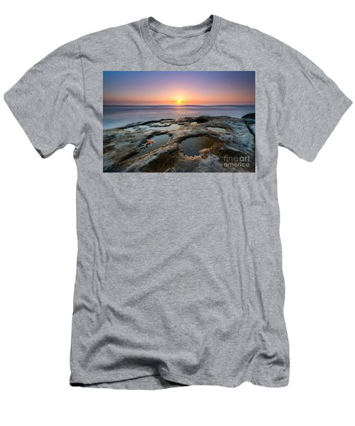 Tide Pool Sunset Men's T-Shirt (Athletic Fit)