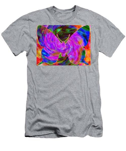 Tie-dye Butterfly Men's T-Shirt (Athletic Fit)