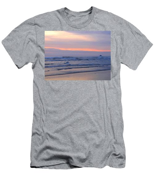 Tillamook Lighthouse Painting Men's T-Shirt (Athletic Fit)