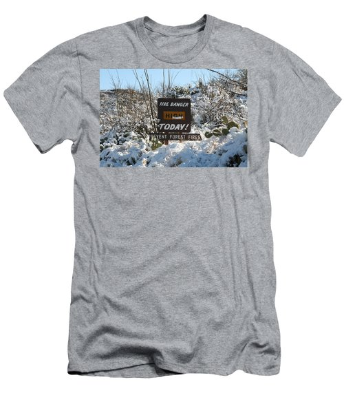 Men's T-Shirt (Slim Fit) featuring the photograph Time To Change The Sign by David S Reynolds