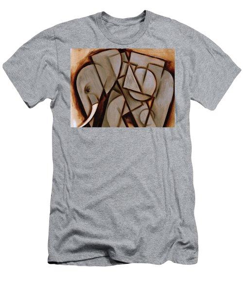 Tommervik Abstract Cubism Elephant Art Print Men's T-Shirt (Athletic Fit)