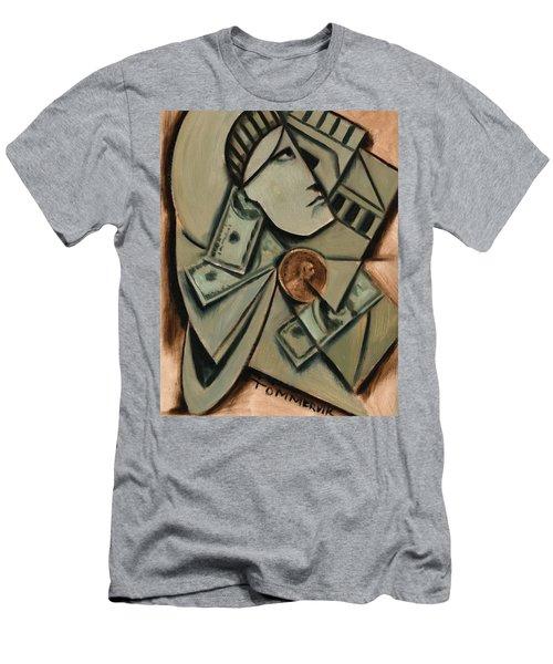 Tommervik Cubism New York Statue Of Liberty Art Print Men's T-Shirt (Athletic Fit)