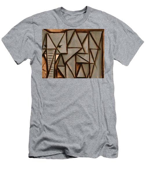 Tommervik Triangle Elephant Art Print Men's T-Shirt (Athletic Fit)