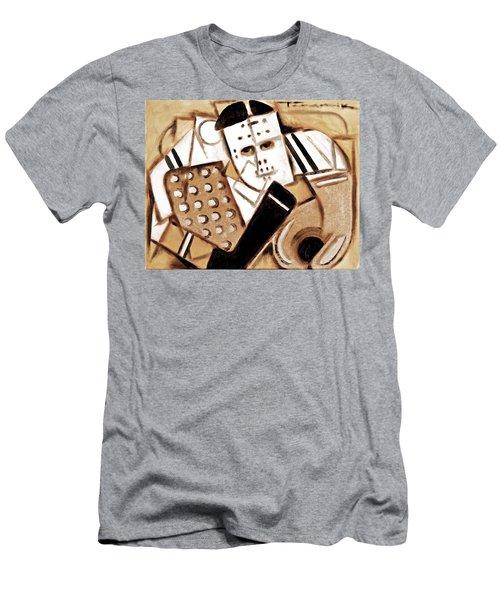 Vintage Hockey Goalie Art Print Men's T-Shirt (Athletic Fit)