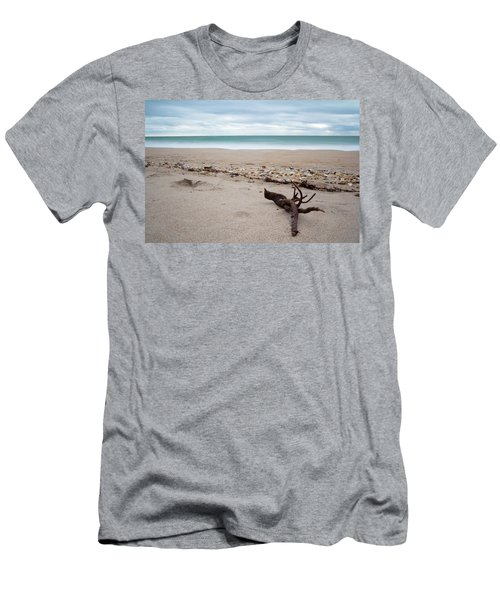 Topsail Island Driftwood Men's T-Shirt (Slim Fit) by Shane Holsclaw