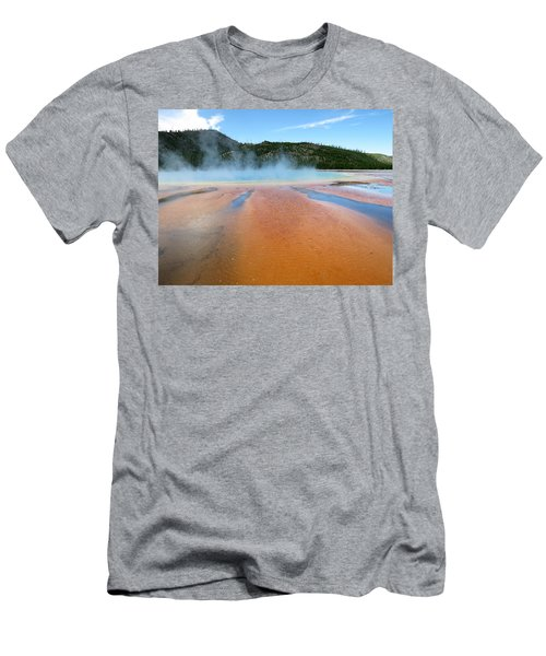 Men's T-Shirt (Slim Fit) featuring the photograph Toward The Blue Stream by Laurel Powell