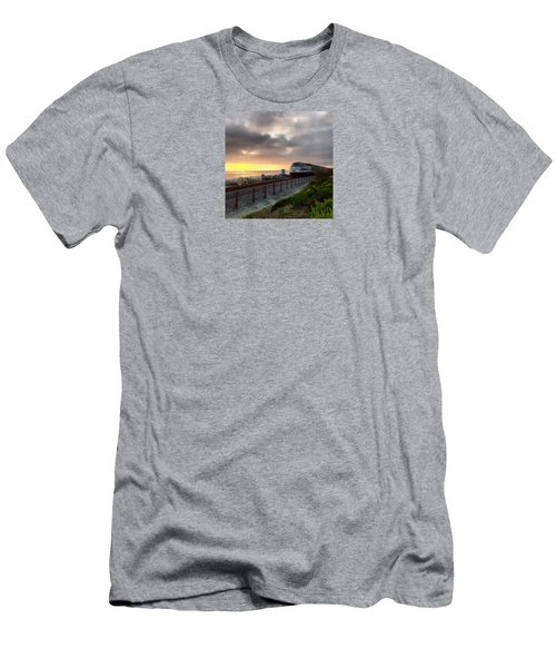 Train And Sunset In San Clemente Men's T-Shirt (Athletic Fit)