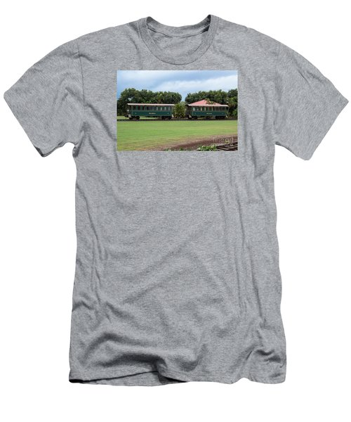Men's T-Shirt (Slim Fit) featuring the photograph Train Lovers by Suzanne Luft
