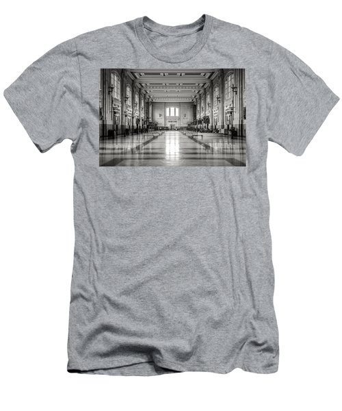 Train Station Men's T-Shirt (Slim Fit) by Sennie Pierson