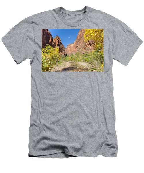 Men's T-Shirt (Athletic Fit) featuring the photograph Tranquil Canyon Scene by John M Bailey