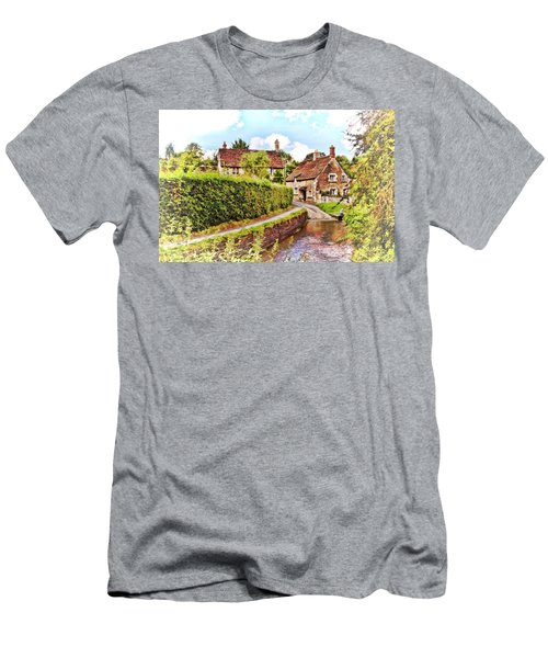 Tranquil Stream Lacock Men's T-Shirt (Athletic Fit)