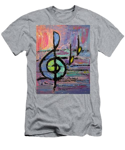 Treble Clef Men's T-Shirt (Athletic Fit)
