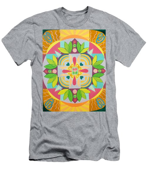 Tropical Mandala Men's T-Shirt (Athletic Fit)