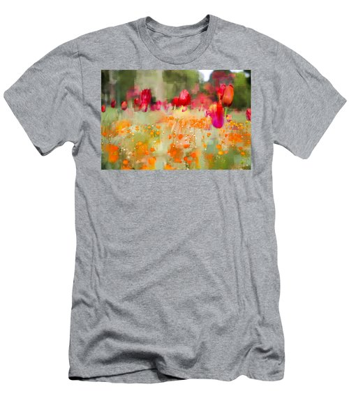 Tulips And Daisies Men's T-Shirt (Athletic Fit)