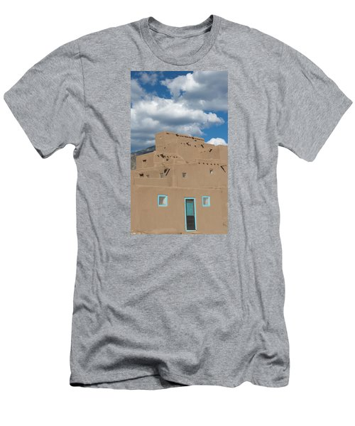 Turquoise Door And Windows Men's T-Shirt (Slim Fit) by Elvira Butler