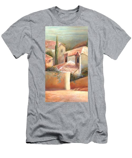 Men's T-Shirt (Slim Fit) featuring the painting Tuscan Village by Michael Rock