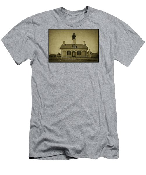 Tybee Lighthouse Men's T-Shirt (Slim Fit) by Priscilla Burgers