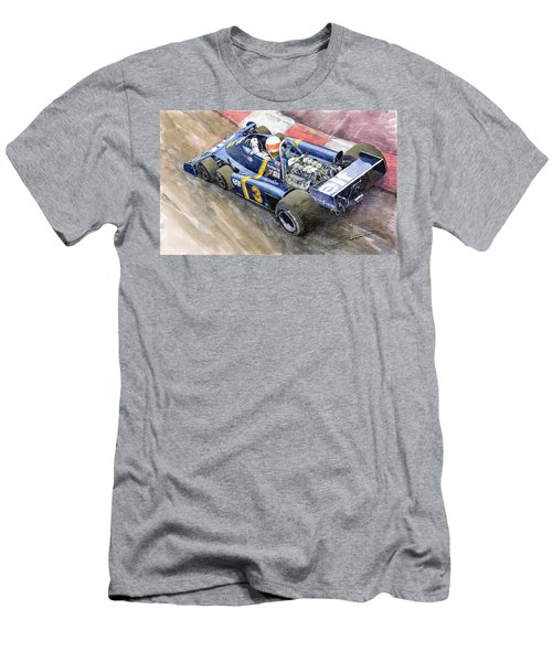 Tyrrell Ford Elf P34 F1 1976 Monaco Gp Jody Scheckter Men's T-Shirt (Athletic Fit)