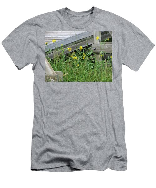 Men's T-Shirt (Slim Fit) featuring the photograph Under The Boardwalk by Laurel Powell