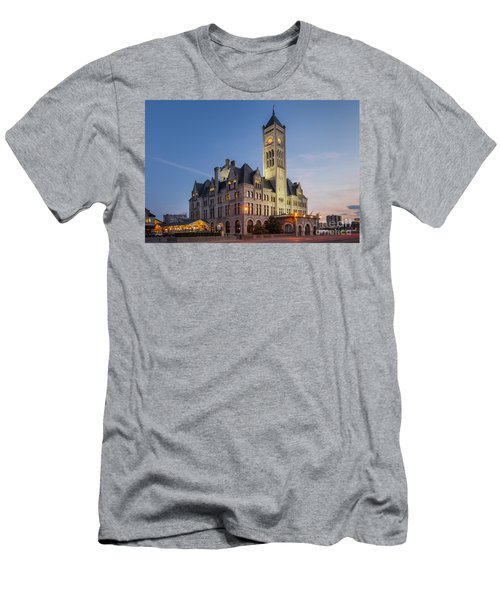 Men's T-Shirt (Athletic Fit) featuring the photograph Union Station  by Brian Jannsen