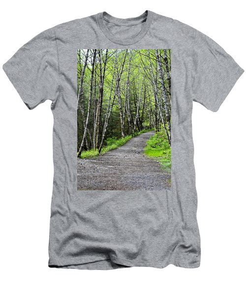 Men's T-Shirt (Slim Fit) featuring the photograph Up The Trail by Cathy Mahnke