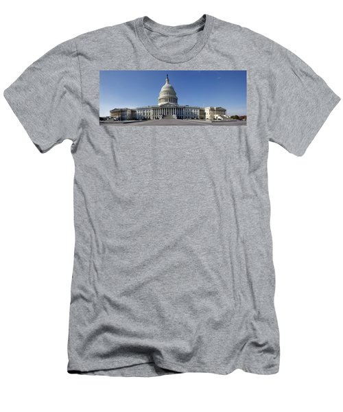 Men's T-Shirt (Athletic Fit) featuring the photograph Us Capitol Panorama by KG Thienemann