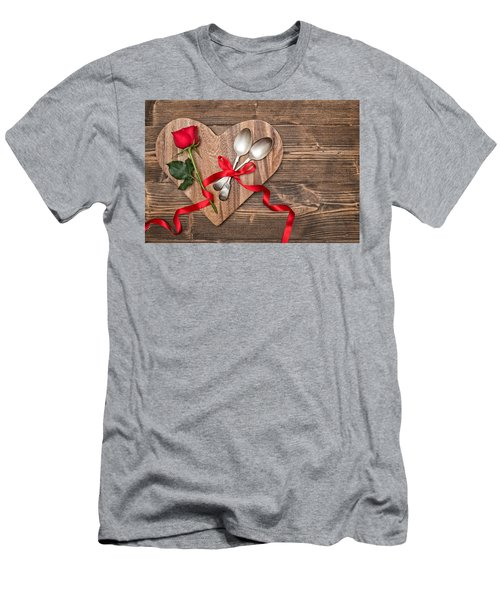 Valentine Table Setting Men's T-Shirt (Athletic Fit)