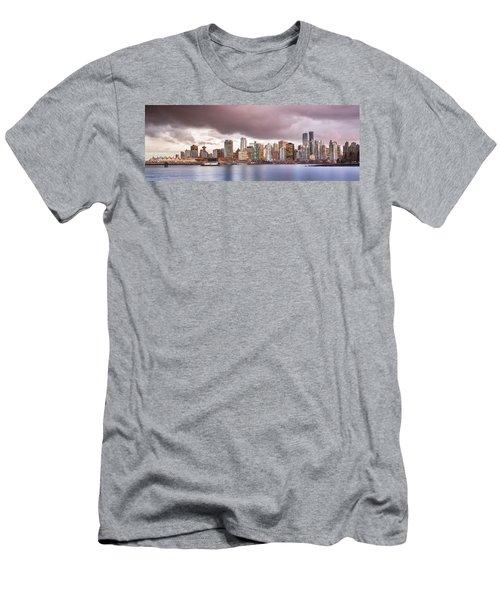 Vancouver Bc Cityscape Men's T-Shirt (Athletic Fit)