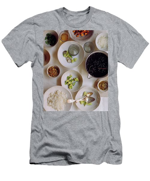 Vegetarian Dishes Men's T-Shirt (Athletic Fit)