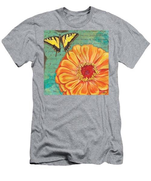 Verdigris Floral 1 Men's T-Shirt (Athletic Fit)