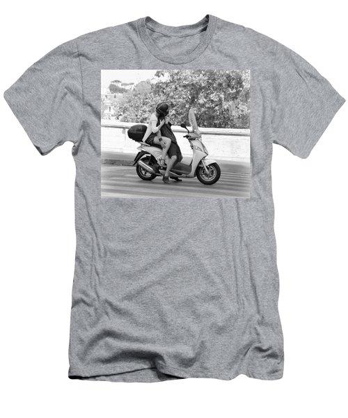 Vespa Romance Men's T-Shirt (Athletic Fit)