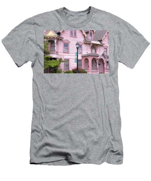 Victorian Pink House - Milford Delaware Men's T-Shirt (Athletic Fit)