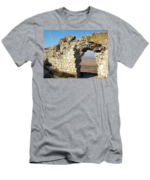 View From Enisala Fortress 2 Men's T-Shirt (Slim Fit) by Manuela Constantin