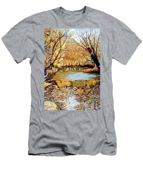 View From The Covered Bridge Men's T-Shirt (Athletic Fit)