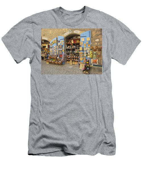 Men's T-Shirt (Slim Fit) featuring the photograph Village Shop Display by Pema Hou